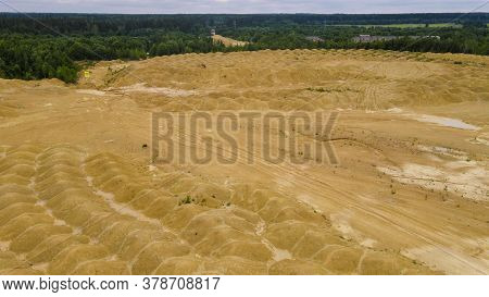 Limestone Quarry With A Pond In The Leningrad Region