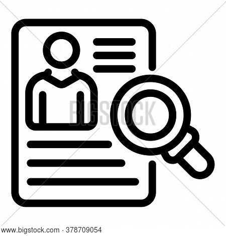 Cv Personal Information Icon. Outline Cv Personal Information Vector Icon For Web Design Isolated On