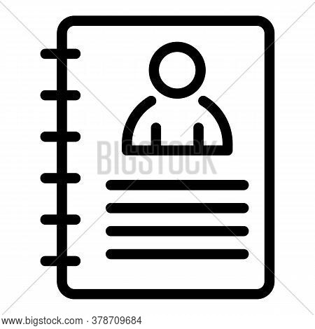Paper Personal Data Icon. Outline Paper Personal Data Vector Icon For Web Design Isolated On White B