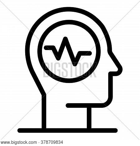 Thinking Traits Icon. Outline Thinking Traits Vector Icon For Web Design Isolated On White Backgroun