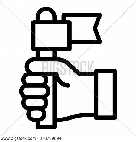 Keep Flag Development Icon. Outline Keep Flag Development Vector Icon For Web Design Isolated On Whi
