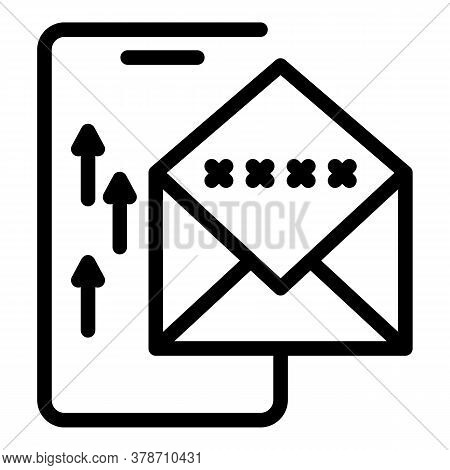 Web Mail Safe Authentication Icon. Outline Web Mail Safe Authentication Vector Icon For Web Design I