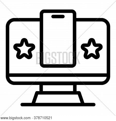 Smart Pc Authentication Icon. Outline Smart Pc Authentication Vector Icon For Web Design Isolated On