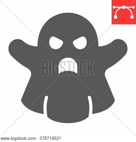 Ghost Glyph Icon, Halloween And Scary, Ghost Sign Vector Graphics, Editable Stroke Solid Icon, Eps 1
