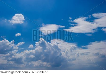 Fresh Blue Sky And Soft White Clouds, Bright Blue Sky With Fluffy White Clouds, The Idea For The Fee
