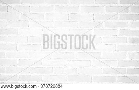 Modern White Vintage Brick Wall Texture For Background Retro White  Washed Old Brick Wall Surface Gr
