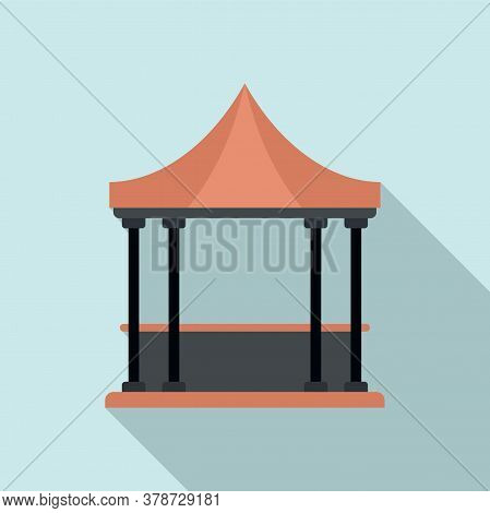 Furniture Gazebo Icon. Flat Illustration Of Furniture Gazebo Vector Icon For Web Design