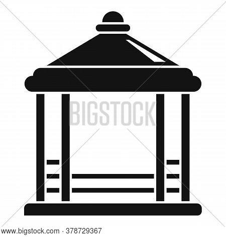 Pavilion Gazebo Icon. Simple Illustration Of Pavilion Gazebo Vector Icon For Web Design Isolated On