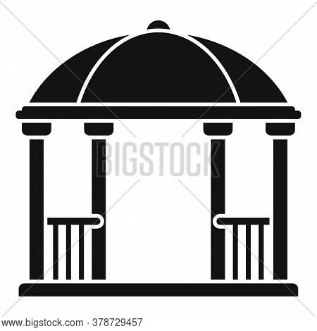 Arch Gazebo Icon. Simple Illustration Of Arch Gazebo Vector Icon For Web Design Isolated On White Ba