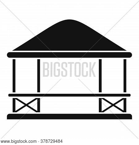 Furniture Gazebo Icon. Simple Illustration Of Furniture Gazebo Vector Icon For Web Design Isolated O