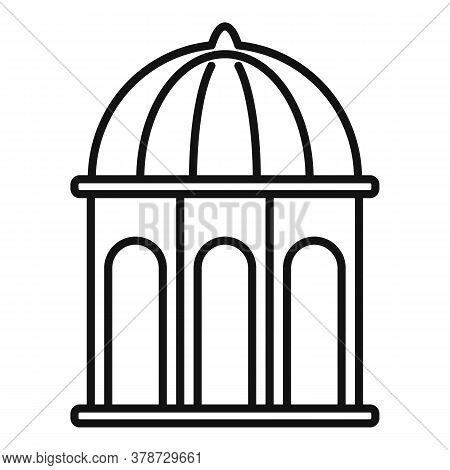 Arbor Gazebo Icon. Outline Arbor Gazebo Vector Icon For Web Design Isolated On White Background