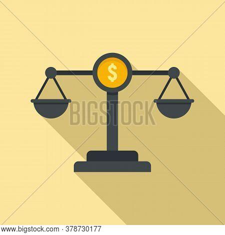 Money Balance Online Loan Icon. Flat Illustration Of Money Balance Online Loan Vector Icon For Web D
