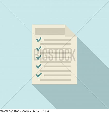 Check Document Online Loan Icon. Flat Illustration Of Check Document Online Loan Vector Icon For Web