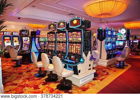 Las Vegas / United States - 05 Jul 2017: The Casino In Las Vegas, United States