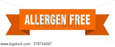 Allergen Free Ribbon. Allergen Free Isolated Band Sign