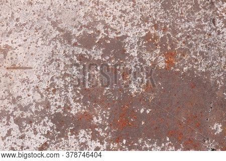 Dark Shabby Rusty Metal Texture. Old Iron Background