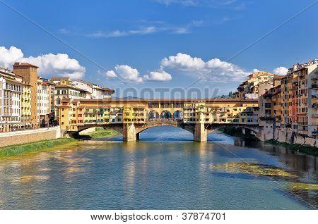 Florence Ponte Vecchio River View