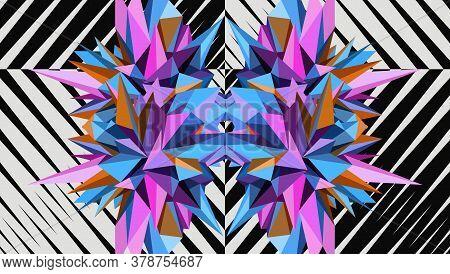 Abstract Geometric Asymmetric Form Design. Vector Illustration