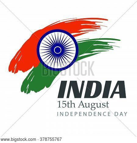 Independence Day Of India Poster Design For Print Or Use As Card, Flyer, Banner Or T Shirt