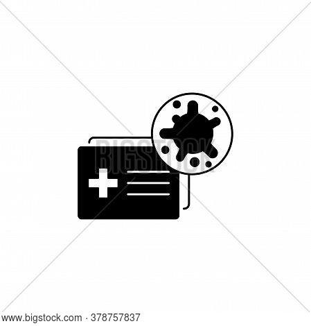 Virus, Bacteria And Medical Form, Document, Certificate Icon, Symbol, Sign. Coronavirus, Covid-19 Ic