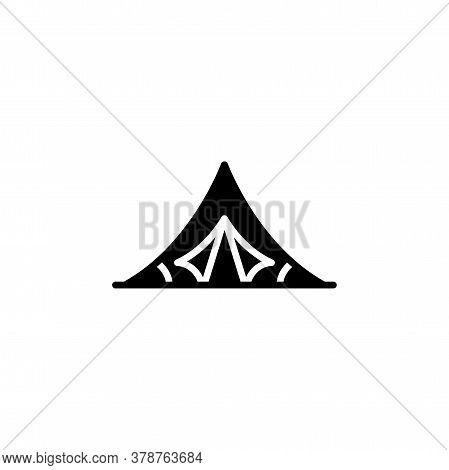 Camping Tourist Tent Icon. Simple Sign, Logo.