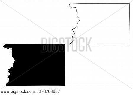 Sioux County, Iowa (u.s. County, United States Of America, Usa, U.s., Us) Map Vector Illustration, S