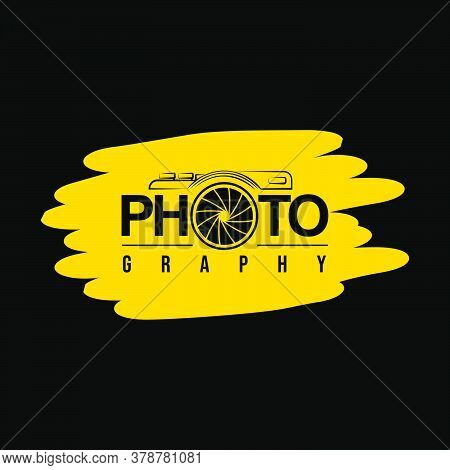 Typography Design Of Photography Vector Illustration. Good Template For Photography Design.