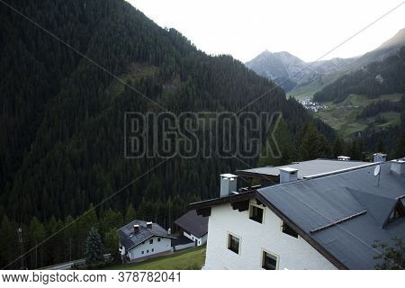 Classic Vintage Retro Building House Resort For Austrian People Living And Foreign Travelers Travel