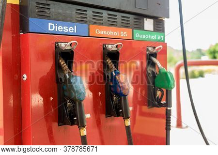 Gas Pump : Benzine , Diesel  For Refuel In Gas Station