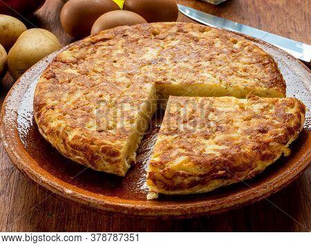 Potato Omelette Plate
