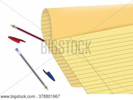 Sheet Of Protocol Paper With Ballpoint Pens