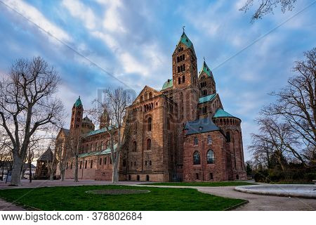 Speyer, Germany - Mar 14, 2020: Cathedral In Speyer, Germany. Officially Called The Imperial Cathedr