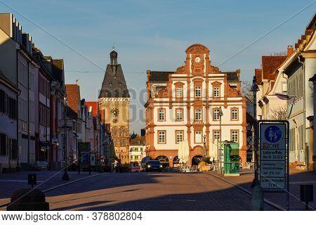 Speyer, Germany - Mar 15, 2020: The Old Gate Altpoertel In Speyer, Germany Is The Medieval City Gate