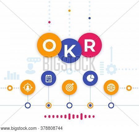 Okr Vector Illustration, Objectives And Key Results, Eps 10 File, Easy To Edit