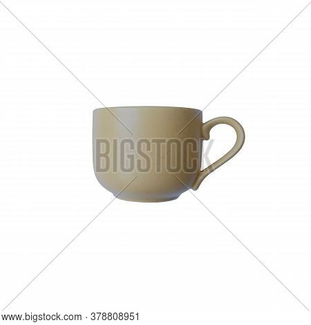 Clean Empty Beige With Slight Spots Coffee Cup Simple Ceramics Tableware Minimalist Concept Front Vi