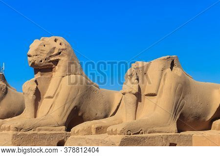 Alley Of Sphinxes At Karnak Temple Complex In Luxor, Egypt