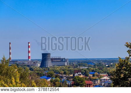 View Of Thermal Power Station In Vladimir, Russia
