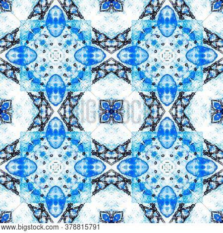 Portuguese Decorative Tiles. Portuguese Motif. Portuguese Decorative Tiles Background. Floral Square