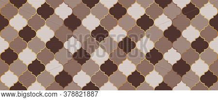 Ottoman Mosque Window Shape. Moroccan Seamless Texture Ramadan Kareem Muslim Decoration. Eid Mubarak