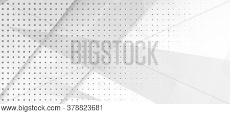 Halftone Dynamic Gray Vector Background. Grain Pattern. Halftone Wallpaper. Edgy Tile. Minimal Faded