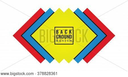 Abstract Background Design Template.. Colorful Layered Square Shape Vector Illustration.  Yellow Red