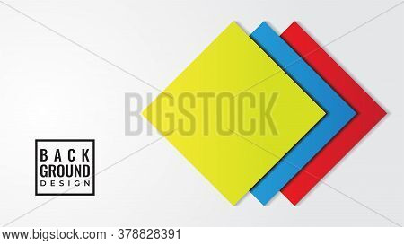 Colorful Layered Square Shape Vector Illustration With Blank Space. Abstract Background Design Templ
