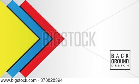 Abstract Background Design Template. Colorful Layered Square Shape Vector Illustration With Blank Sp