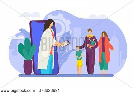 Family Doctor Consultation In Internet, Phycisian Therapist Consult Patients, Health Care Technology
