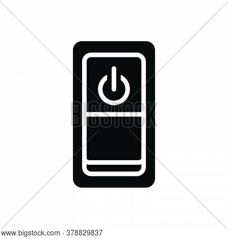 Black Solid Icon For Power-switch Power Switch Button Control Electricity Energy Circuit Technology