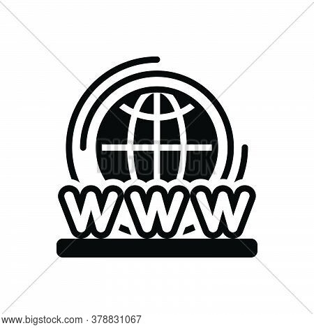 Black Solid Icon For World-wide-web Access Connection  Digital Technology Web Global Planet Modem We