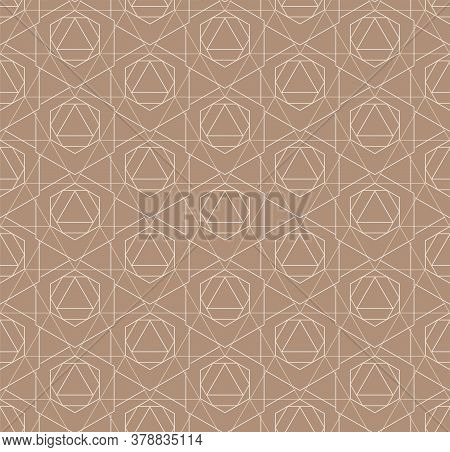 Seamless Vintage Graphic Rhombus, Print Pattern. Repetitive Linear Vector Poly Background Texture. C