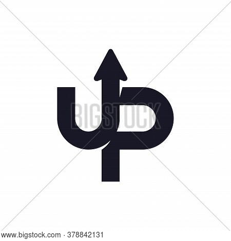 Up Logo Template Design Concept. Letter U And P Logo Vector With Arrow Combination.