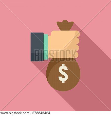 Money Bag Loan Icon. Flat Illustration Of Money Bag Loan Vector Icon For Web Design