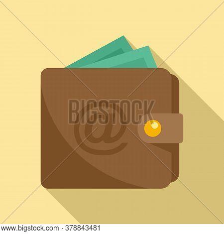Leather Wallet Money Loan Icon. Flat Illustration Of Leather Wallet Money Loan Vector Icon For Web D